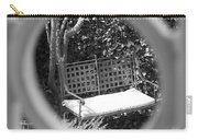 Metal Bench In Sedona Carry-all Pouch