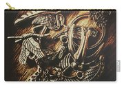 Metallic Birdlife Abstract Carry-all Pouch