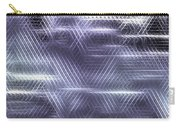 Metallic Cross Pattern  Carry-all Pouch