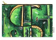 Metallic Gold Dollar Sign For The Love Of Money Mini Pop Art Painting Madart Carry-all Pouch