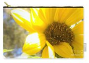 Metallic Green Bee In A Sunflower Carry-all Pouch