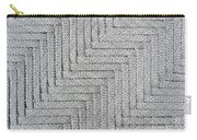 Metallic Grey Rope Weaved Pattern Carry-all Pouch