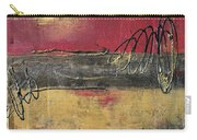 Metallic Square Series I - Red And Gold Urban Abstract Painting Carry-all Pouch