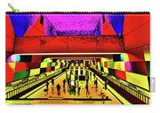 Metro 4, Budapest, Hungary, Poster Effect 1b Carry-all Pouch