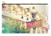 Metro Sign Paris Shabby Chic Carry-all Pouch