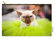 Mew Kitty Funny Mad Face Carry-all Pouch