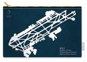 Mex Benito Juarez International Airport Silhouette In Blue Carry-all Pouch