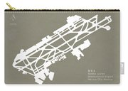 Mex Benito Juarez International Airport Silhouette In Gray Carry-all Pouch