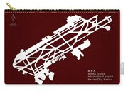 Mex Benito Juarez International Airport Silhouette In Red Carry-all Pouch