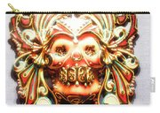 Mexican Day Of The Dead Mask Carry-all Pouch
