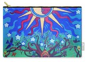 Mexican Retablos Prayer Board Carry-all Pouch by Genevieve Esson