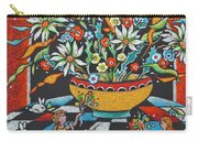 Mexican Vase With Spring Flowers Carry-all Pouch