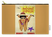 Miami Travel By Braniff Airways  1960 Carry-all Pouch