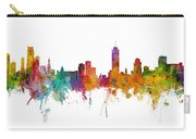 Miami And Nashville Skylines Mashup Carry-all Pouch