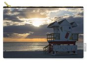Miami Beach Life Guard House Sunrise 2 Carry-all Pouch