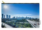Miami Florida City Skyline And Streets Carry-all Pouch
