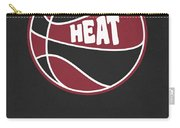 Miami Heat Vintage Basketball Art Carry-all Pouch