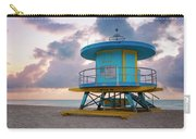Miami Lifeguard Cabin At Sunrise Carry-all Pouch
