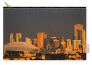 Miami Skyline At Sunset Carry-all Pouch