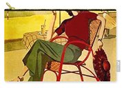 Miami, Woman On The Beach Under Sunshade Carry-all Pouch