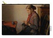 Michael Ancher - Skagen Girl, Maren Sofie, Knitting. Carry-all Pouch