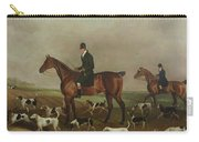 Michael Beverley With His Whipper In And Harriers Carry-all Pouch