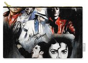 Michael Jackson - King Of Pop Carry-all Pouch by Lin Petershagen