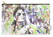 Michael Jackson Watercolor Carry-all Pouch