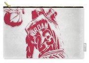 Michael Jordan Chicago Bulls Pixel Art 1 Carry-all Pouch