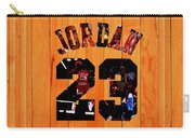 Michael Jordan Wood Art 1a Carry-all Pouch
