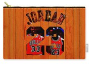 Michael Jordan Wood Art 1b Carry-all Pouch