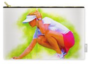 Michelle Wie Of Usa Lined Her Ball Carry-all Pouch