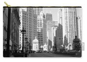 Michigan Ave Tall B-w Carry-all Pouch