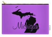 Michigan In Black Carry-all Pouch