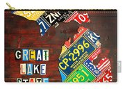 Michigan License Plate Map Carry-all Pouch by Design Turnpike