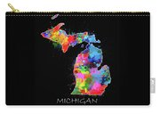 Michigan Map Color Splatter 2 Carry-all Pouch