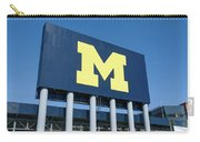 Michigan Stadium Sign At University Of Michigan Carry-all Pouch