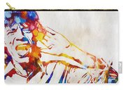 Mick Jagger Abstract Carry-all Pouch