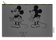 Mickey Mouse Character Figure Patent 1929 Carry-all Pouch