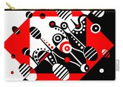 Microgravity - Red And Black Carry-all Pouch