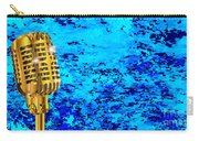 Microphone On Blues Fire Carry-all Pouch