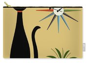 Mid Century Starburst Clock 3 Carry-all Pouch