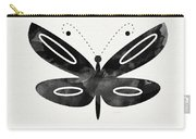 Midnight Butterfly 1- Art By Linda Woods Carry-all Pouch by Linda Woods