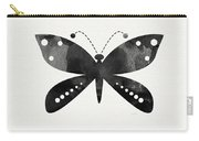 Midnight Butterfly 4- Art By Linda Woods Carry-all Pouch by Linda Woods