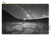 Midnight Explorer At Badwater Basin Bw Carry-all Pouch