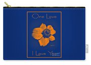 Midnight Orange Passion Flower Carry-all Pouch