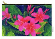 Midnight Plumeria Flower #61 Carry-all Pouch