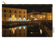 Midnight Silence And Solitude - Syracuse Sicily Illuminated Waterfront Carry-all Pouch