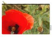 Midsummer Poppy Carry-all Pouch