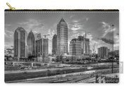 Midtown Atlanta Dusk B W Atlanta Construction Art Carry-all Pouch